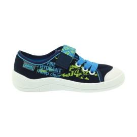 Befado obuwie dziecięce 251X099 niebieskie zielone granatowe 1