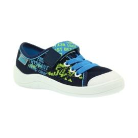 Befado obuwie dziecięce 251X099 niebieskie zielone granatowe 2