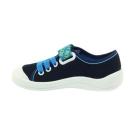 Befado obuwie dziecięce 251X099 niebieskie zielone granatowe 3