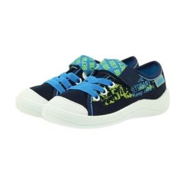 Befado obuwie dziecięce 251X099 niebieskie zielone granatowe 4