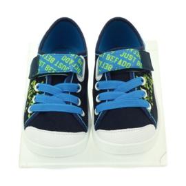 Befado obuwie dziecięce 251X099 niebieskie zielone granatowe 5