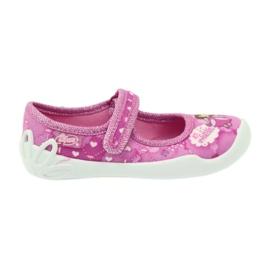 Befado obuwie dziecięce 114X306 różowe 1