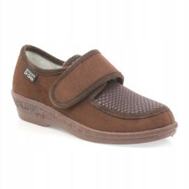Befado obuwie damskie pu 984D010 brązowe 2