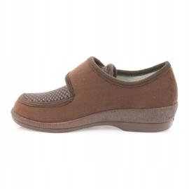 Befado obuwie damskie pu 984D010 brązowe 3