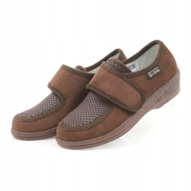 Befado obuwie damskie pu 984D010 brązowe 4