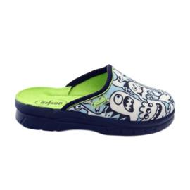 Befado obuwie dziecięce     wzór do kolorowania 708X004 niebieskie 1