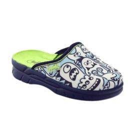 Befado obuwie dziecięce     wzór do kolorowania 708X004 niebieskie 2