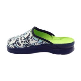 Befado obuwie dziecięce     wzór do kolorowania 708X004 niebieskie 3