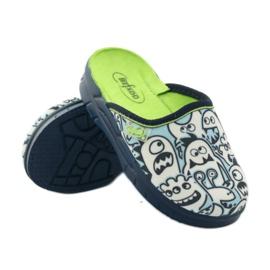 Befado obuwie dziecięce     wzór do kolorowania 708X004 niebieskie 4
