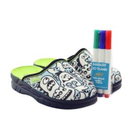 Befado obuwie dziecięce     wzór do kolorowania 708X004 niebieskie 6