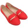 Mokasyny damskie czerwone 3C-9 Red zdjęcie 4