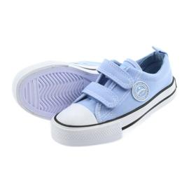 Trampki na rzepy buty dziecięce American Club LH50 blue 4