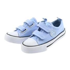 Trampki na rzepy buty dziecięce American Club LH50 blue 3