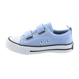 Trampki na rzepy buty dziecięce American Club LH50 blue 2