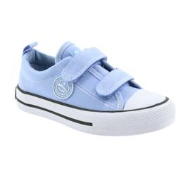 Trampki na rzepy buty dziecięce American Club LH50 blue 1