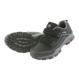 ADi Sportowe buty dziecięce softshell American Club czarne szare 5