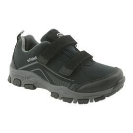ADi Sportowe buty dziecięce softshell American Club czarne szare 1