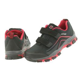 ADI Sportowe buty dziecięce softshell American Club WT09/19 czarne czerwone 4