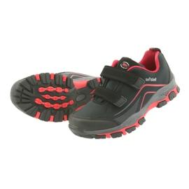 ADI Sportowe buty dziecięce softshell American Club WT09/19 czarne czerwone 3