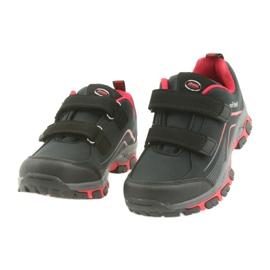 ADI Sportowe buty dziecięce softshell American Club WT09/19 czarne czerwone 2