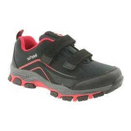 ADI Sportowe buty dziecięce softshell American Club WT09/19 czarne czerwone 1