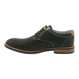 American Club Półbuty buty męskie wiązane Rhapsody RH 08/19 czarne 2