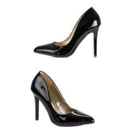 Sweet Shoes Lakierowane Czarne Szpilki 1