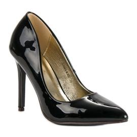 Sweet Shoes Lakierowane Czarne Szpilki 3