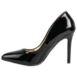 Sweet Shoes Lakierowane Czarne Szpilki 4