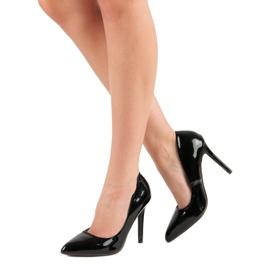 Sweet Shoes Lakierowane Czarne Szpilki 6