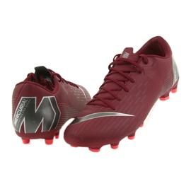 Buty piłkarskie Nike Mercurial Vapor 12 Academy Fg M AH7375-606 czerwone czerwone 5