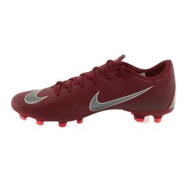Buty piłkarskie Nike Mercurial Vapor 12 Academy Fg M AH7375-606 czerwone czerwone 2