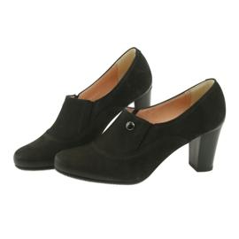 Buty czarne na obcasie Espinto P52/1 5