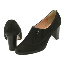 Buty czarne na obcasie Espinto P52/1 4