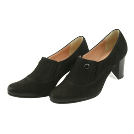 Buty czarne na obcasie Espinto P52/1 3