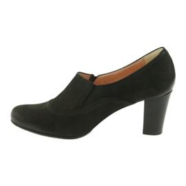 Buty czarne na obcasie Espinto P52/1 2