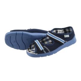 Sandałki buty dziecięce na rzepy Befado 969x101 granatowe 4