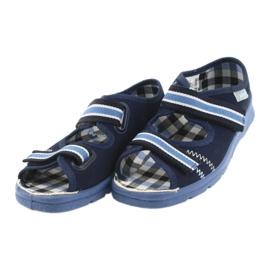Sandałki buty dziecięce na rzepy Befado 969x101 granatowe 3