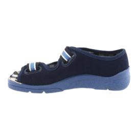 Sandałki buty dziecięce na rzepy Befado 969x101 granatowe 2