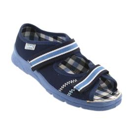 Sandałki buty dziecięce na rzepy Befado 969x101 granatowe 1
