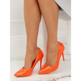 Szpilki damskie pomarańczowe LE03P Orange 4