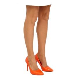 Szpilki damskie pomarańczowe LE03P Orange 5