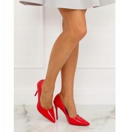 Szpilki damskie czerwone LE03P Red 6