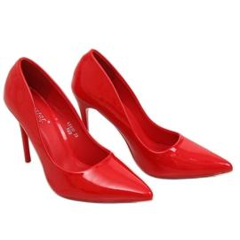 Szpilki damskie czerwone LE03P Red 2
