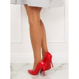 Szpilki damskie czerwone LE03P Red 3