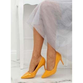 Szpilki damskie żółte LE011P Yellow 4