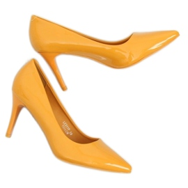 Szpilki damskie żółte LE011P Yellow 5