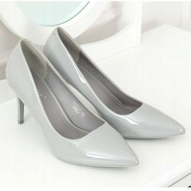 Szpilki damskie szare LE011P Grey 3