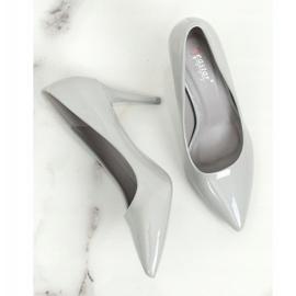 Szpilki damskie szare LE011P Grey 1