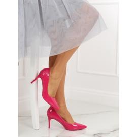 Szpilki damskie fuksjowe LE011P Fushia różowe 5